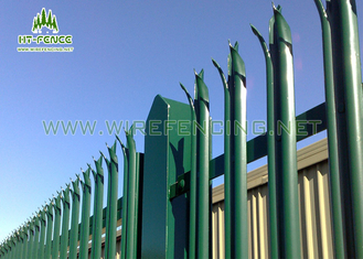 China Waterproof Steel Palisade Fencing / Palisade Security Gates With Triple Point supplier