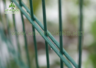 China Powder Coated Welded Double Wire Fence Weather Proof For Schools / Residential supplier