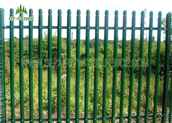 China 71mm W Pale Metal Palisade Fencing Heat Resistance With 100 × 55mm IPE Post supplier