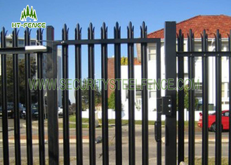 China 2.4m Height Galvanised Steel Palisade Fencing With  Powder Coating Finished supplier