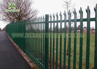China Prison Stainless Steel Palisade Fencing / Welded Steel Mesh Panels With IPE Post supplier