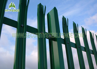 China Hot Dipped Galvanized Metal Palisade Fencing D Section For Telecom Tower supplier