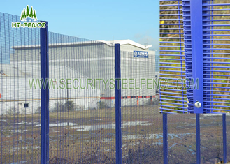 China High Security PVC Coated Wire Mesh Panels Various Sizes Convenient Installation supplier
