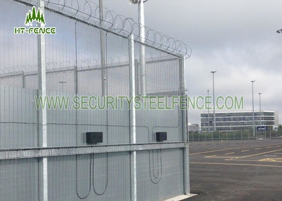 China 358 Clearvu Mesh Security Fencing 3.0 M Height With 2 * 75mm Flanges Easy To Install supplier
