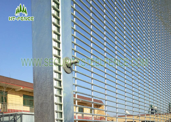 China Polyester Coated Anti Climb Fence /  358 Type Security Welded Mesh Fencing  supplier