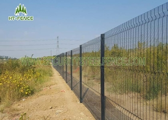 China Double Horizontal Wire Anti Climb Fence 4 / 4 / 4 With Hot Dipped Galvanized supplier