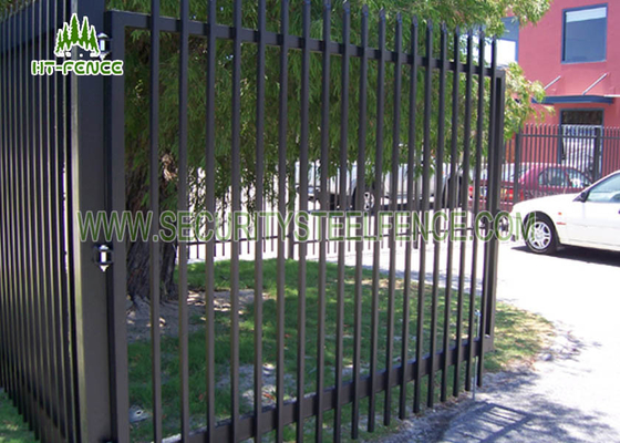 China Decorative Wrought Iron Spear Top Fencing Climb Proof With Powder Sprayed Coating supplier