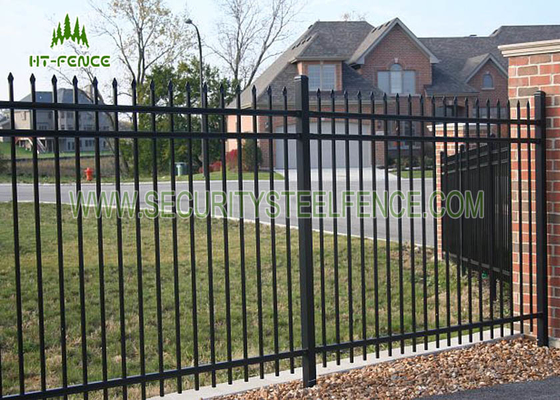 China 1.2m Height Flat Top Steel Pool Fencing For Pool Security Protection supplier