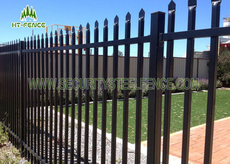 China 1.8 × 2.4m Spear Top Fencing / Welded Wire Mesh Panels For Diplomat Garrison supplier