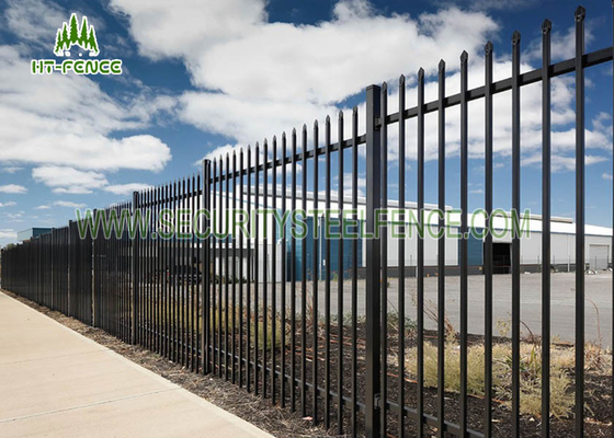 China Black Spear Top Fencing With 17pcs Pickets , Powder Coating Spear Top Gate  supplier