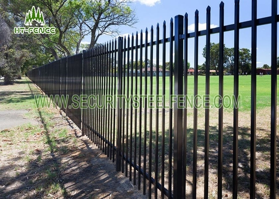 China 1.8m Height Metal Picket Spear Top Fencing Anti - Climb For Park / Schools supplier