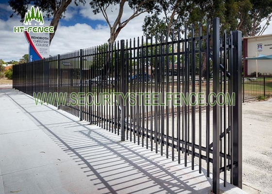 China Heavy Duty Diplomat Garrison Spear Top Fence Black Waterproof With 2.1m Height supplier