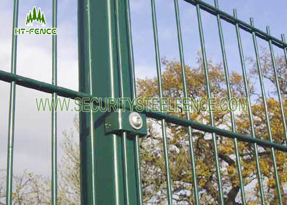 China Black Double Wire Fence / Ornamental Twin Wire Mesh Fencing For Sports Field supplier