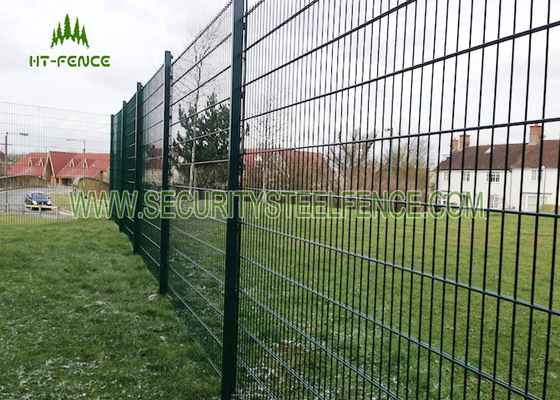 China Anti Climb Double Loop Decorative Fence , High Security Double Wire Mesh Fence  supplier