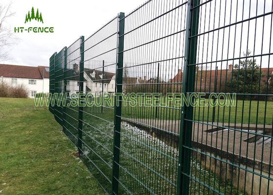 China Grey 2.03 × 2.5m Double Wire Fence 6 / 5 / 6 Wire Anti - Climb With Powder Coated supplier