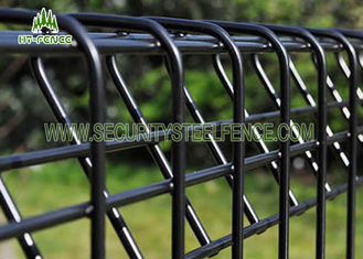 China Welded Wire Roll Top Mesh Fence Panel 2.4m Height With Aging Resistance supplier