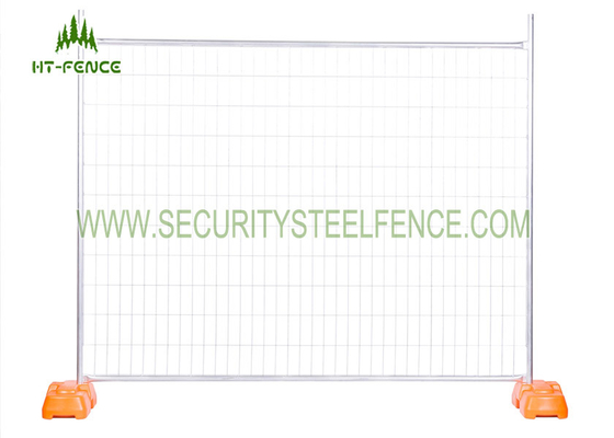 China 2.1m Height Temporary Fence Panels With Metal Clamps And Plastic Block supplier
