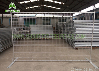 China Yellow Temporary Security Fence Panels With Square Tube Frame Composited supplier