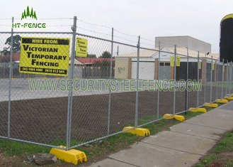 China Green Powder Coated Temporary Chain Link Fence Anti - Climb For Sporting Events supplier