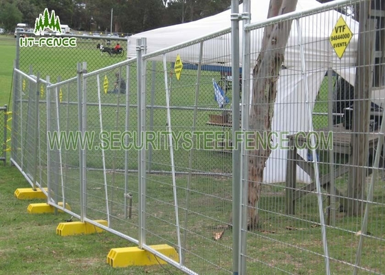 China 6ft Height Temporary Chain Link Fence Panels With 50 × 50mm Diamond Mesh supplier