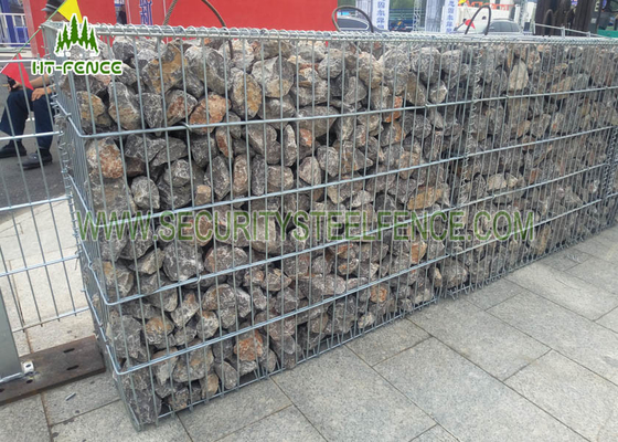 China Anti - Corrosive Welded Gabion Box / Gabion Stone Basket For Highway Checkpoints supplier