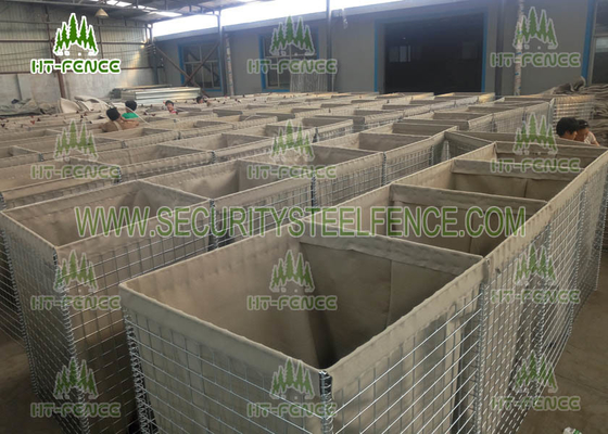 China Mil 7 Size Galvanized Gabion Box 4.0mm Wire For Defensive Firing Positions supplier