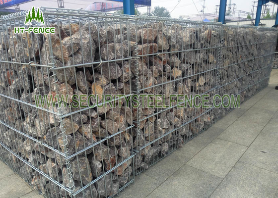 China PVC Coated Welded Gabion Box / Gabion Retaining Wall For River Control supplier