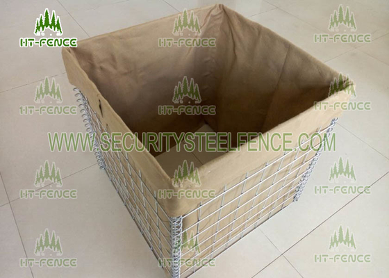 China Military Protection Welded Gabion Box Hesco Barrier With 600g Heavy Geotextile supplier