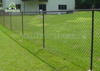 China Vinyl Coated Steel Chain Link Fence Ant I- Ultraviolet For Highway Or Airport supplier