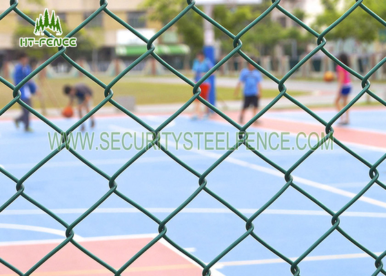 China Diamond Security Galvanised Chain Link Fencing Anti - Climb With 60 × 60mm Holes supplier