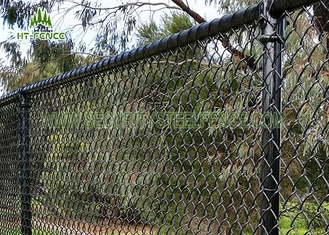 China 3.6mm Wire Steel Chain Link Fence / Chain Link Security Fence For Home Garden supplier