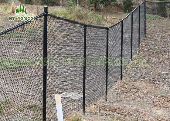 China Galvanized Chain Link Wire Fence 2.5mm Wire Diameter For Sports Field / School supplier