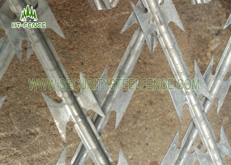 China Powder Coating Razor Wire Mesh Fencing  / Flat Type Welded Razor Wire Fence supplier