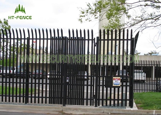 China Powder Coating Galvanized Steel Security Fencing W Or D Type For Country Border supplier