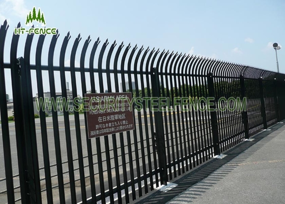 China 2.4m High Security Steel Palisade Fencing 3.0mm Thickness HDG Powder Coating   supplier