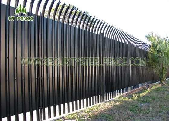 China 2.4 × 2.75m Security Steel Fence , 71mm Width W Section Palisade Fence Panels supplier