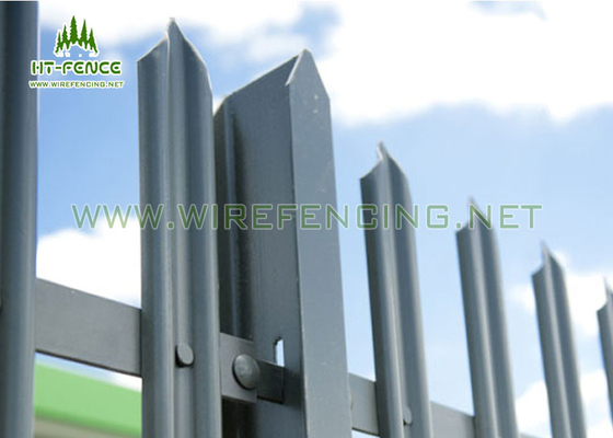 "China ""D"" ""W"" Section Pales Security Wire Steel Palisade Fencing Durban supplier"