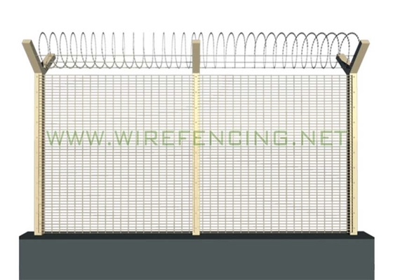 China ISO High Security Anti Climbing Fence 358 Security Fence 72.6*12.7mm Green supplier