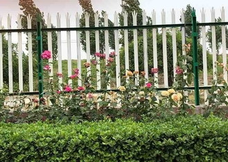 China Powder Coated Galvanized Iron Spearhead Ornamental Decorative Palisade Fence supplier