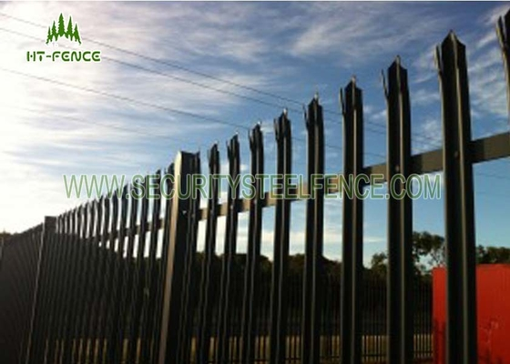 China Custom Metal Palisade Fencing / Palisade Fence Panel 100*55*3mm Post supplier
