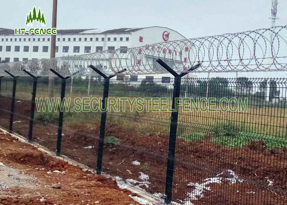 China PVC Coated Security Electro Galvanized Welded Steel Wire Mesh Garden Fence supplier