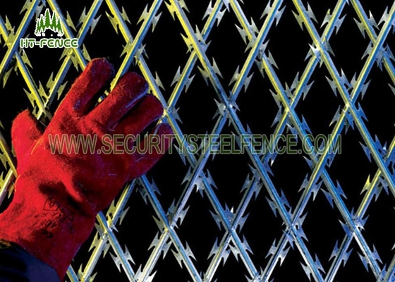 China Hot Dipped Galvanized Concertina Razor Barbed Wire BTO-12 Dia 500mm supplier