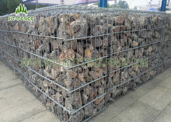 China Galvanized Welded Wire Mesh Gabion Fence Box for Retaining Stone Wall supplier