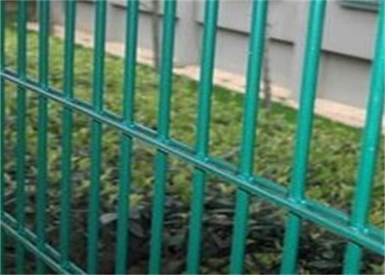 China Twin Wire 8 / 6 Double Wire Fence Wrought Iron Style / Green Pvc Coated Wire Mesh Fencing supplier