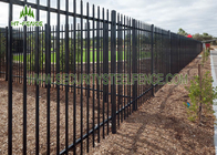 Steel Tubular Spear / Flat Top Fence Erosion Resistance For Commerical Security