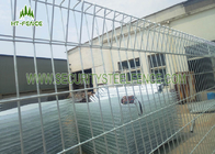 China Black BRC Roll Top Fencing 1.8m Height Weather Resistance With φ50mm Post factory