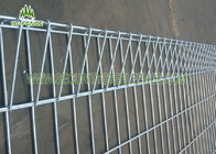 Decorative BRC Welded Fence / Roll Top Welded Mesh Fencing For Construction Site