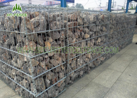 PVC Coated Welded Gabion Box / Gabion Retaining Wall For River Control