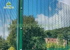 China 8ft Anti Climb Security Fence Panels 3 Bends Hot Dipped Galvanized For Prison company