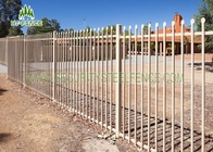 2.1 × 2.4m Garrison Security Steel Fence Spear Top Black For Community / Gardens
